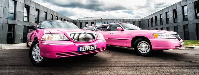 Unsere Limousinen in Pink
